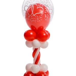 Ballonpilaar Mini deluxe bruiloft topballon 30 cm met ballon erin thema entwined hearts B2B Fotografie 18 01 18 13 26 40 300x300 - Mini Ballonpilaar