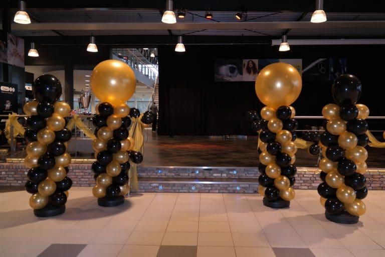 verschilballonpilaarhoogtetopballon90cm40cmmercedesnieuwjaarsborrelalkmaar  768x512 - Ballonpilaar