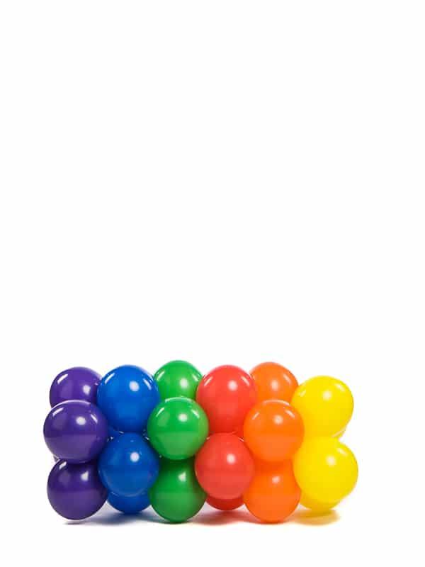 webshop ballonslinger 1 meter breed met 28 cm ballonnen - Ballonslinger