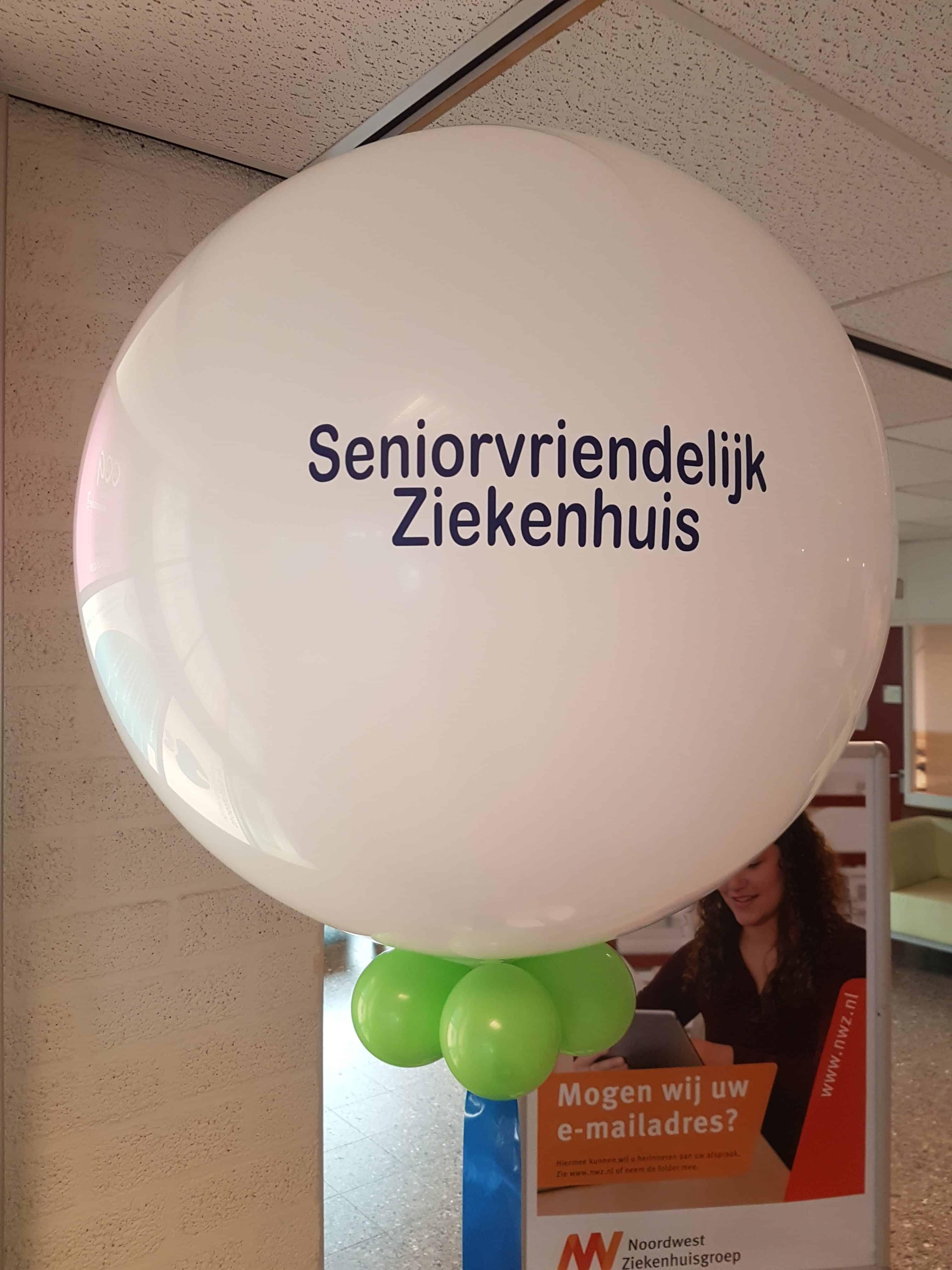 Noordwest-Ziekenhuisgroep-Alkmaar-prijs-gewonnen-Seniorvriendelijk-bedrukte-ballon