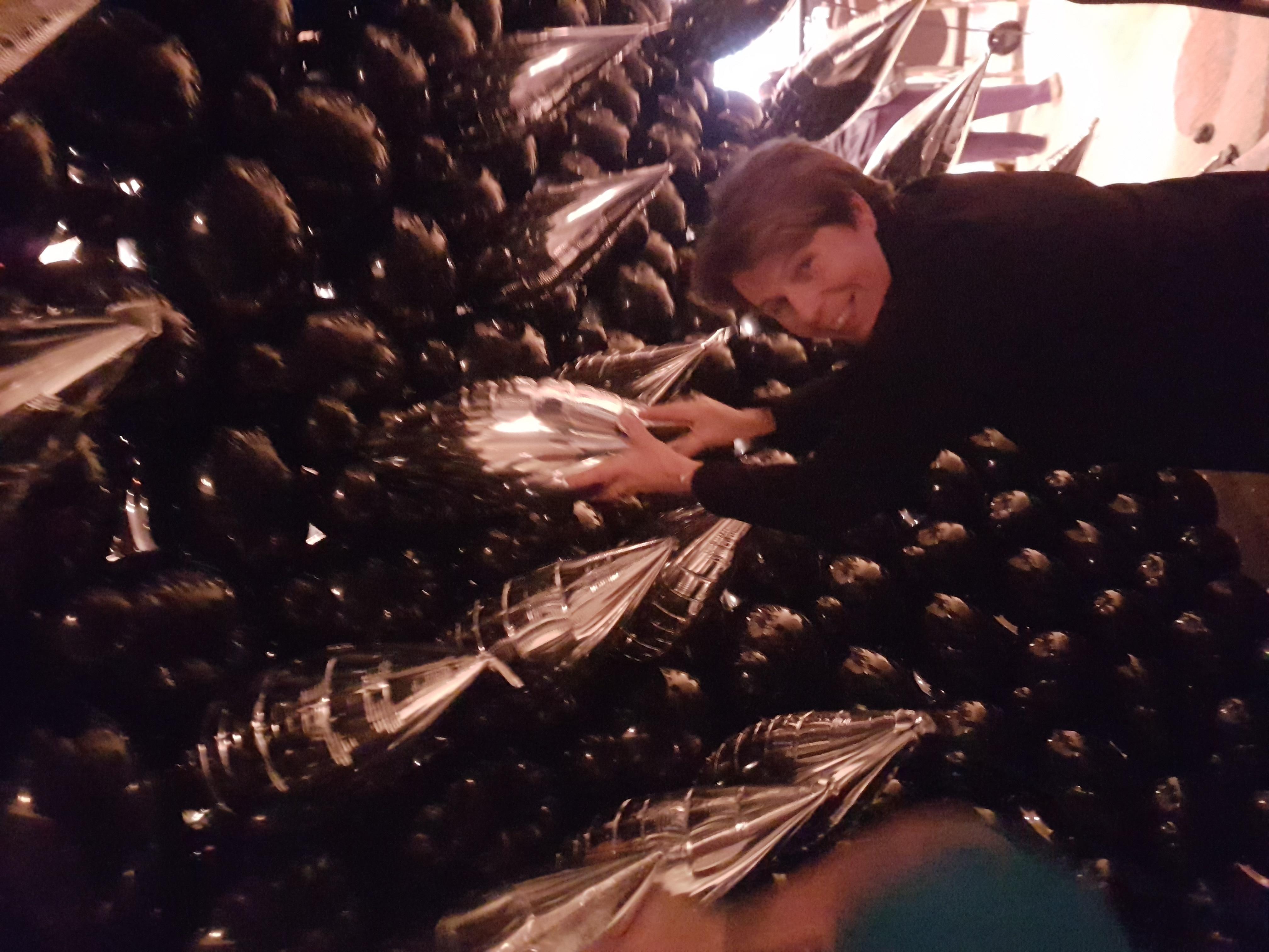 ballonmuur-after-party-zwart-zilver-strak-modern