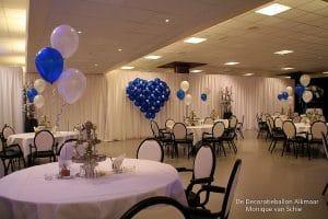 ballonhart blauw communie feestzaal Valentijnsdag
