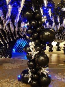 organic ballon pilaar organische ballonpilaar feest after party