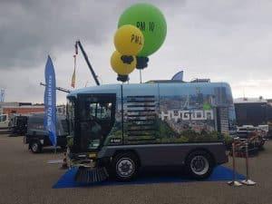 enorm-grote-helium-ballonnen-bedrukt-beurs-reinigingsdemodagen-lelystad