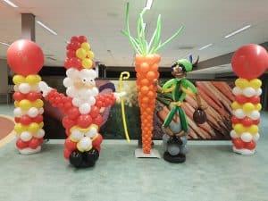 Sinterklaas-wortel-Zwarte-Piet-ballonpilaren-Sinterklaasfeest
