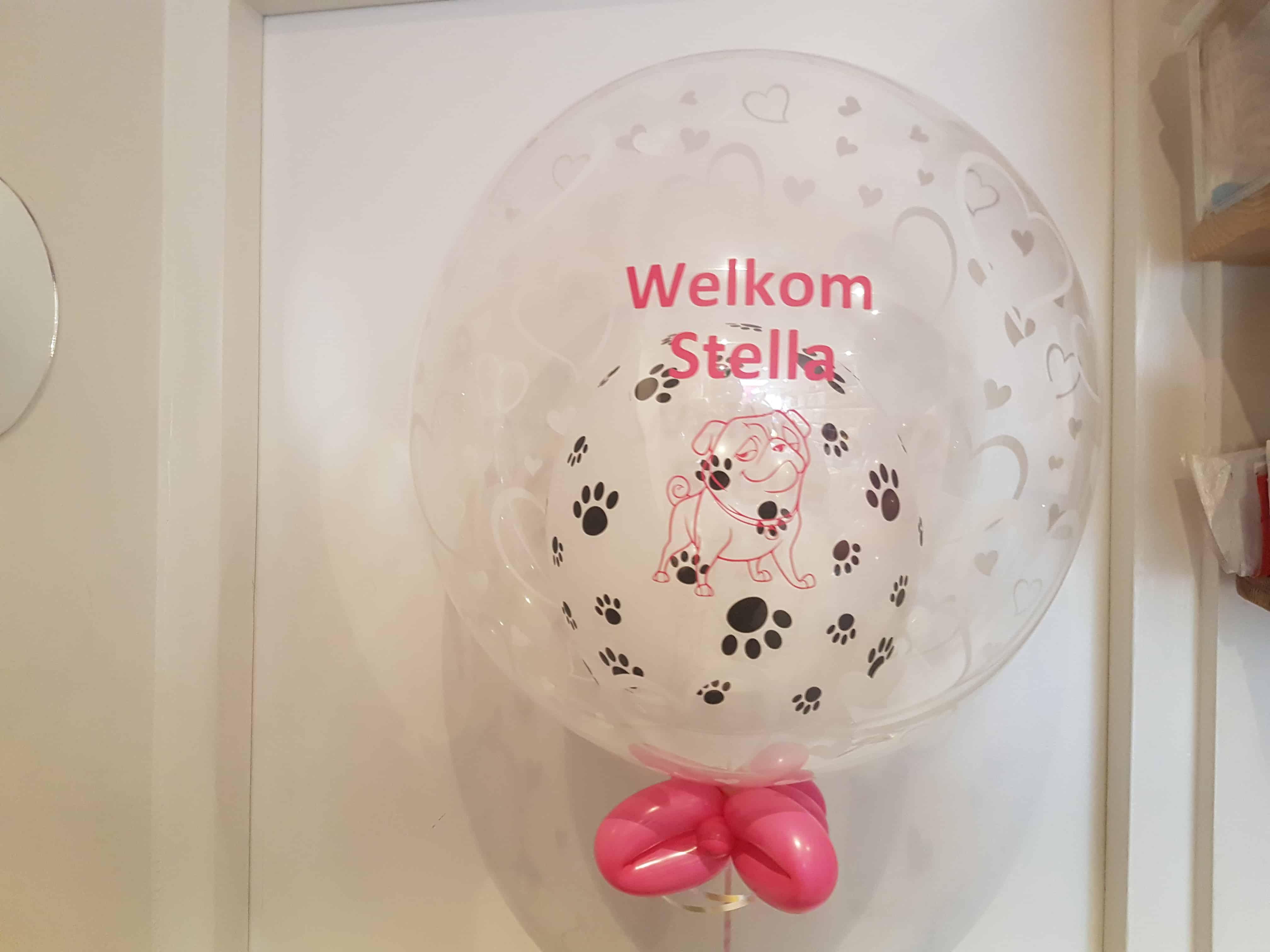 bedrukte ballon persoonlijke tekst  De Decoratieballon Alkmaar