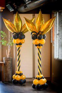 luxe-ballonpilaar-verjaardag-feest-goud-zwart-art-deco-roaring-twenties-gatsby-stijl
