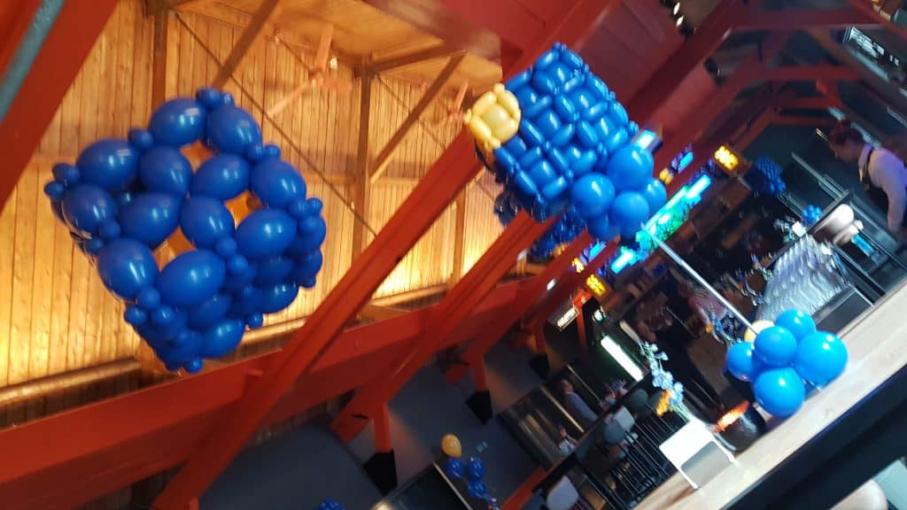 Logo in ballonnen