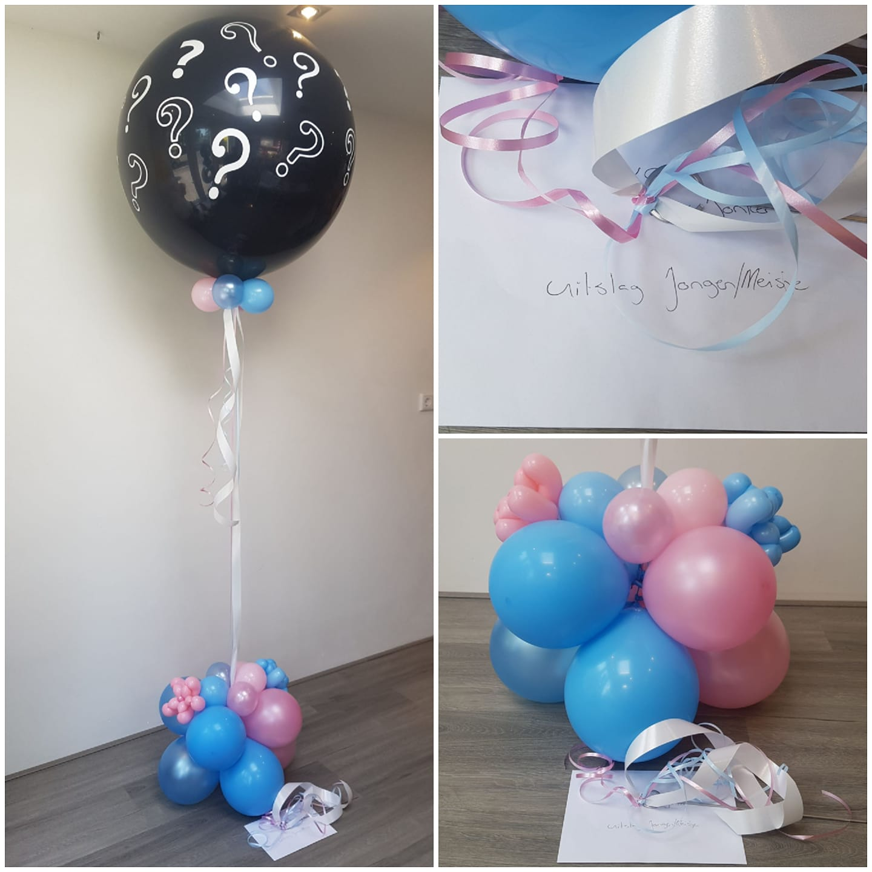 Ballon van de Blije boodschap jongen meisje gender reveal party geslacht bekend maken - Geboorte