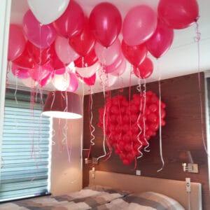 huwelijksaanzoekinslaapkamerroodhart3D 300x300 - Helium ballonnen